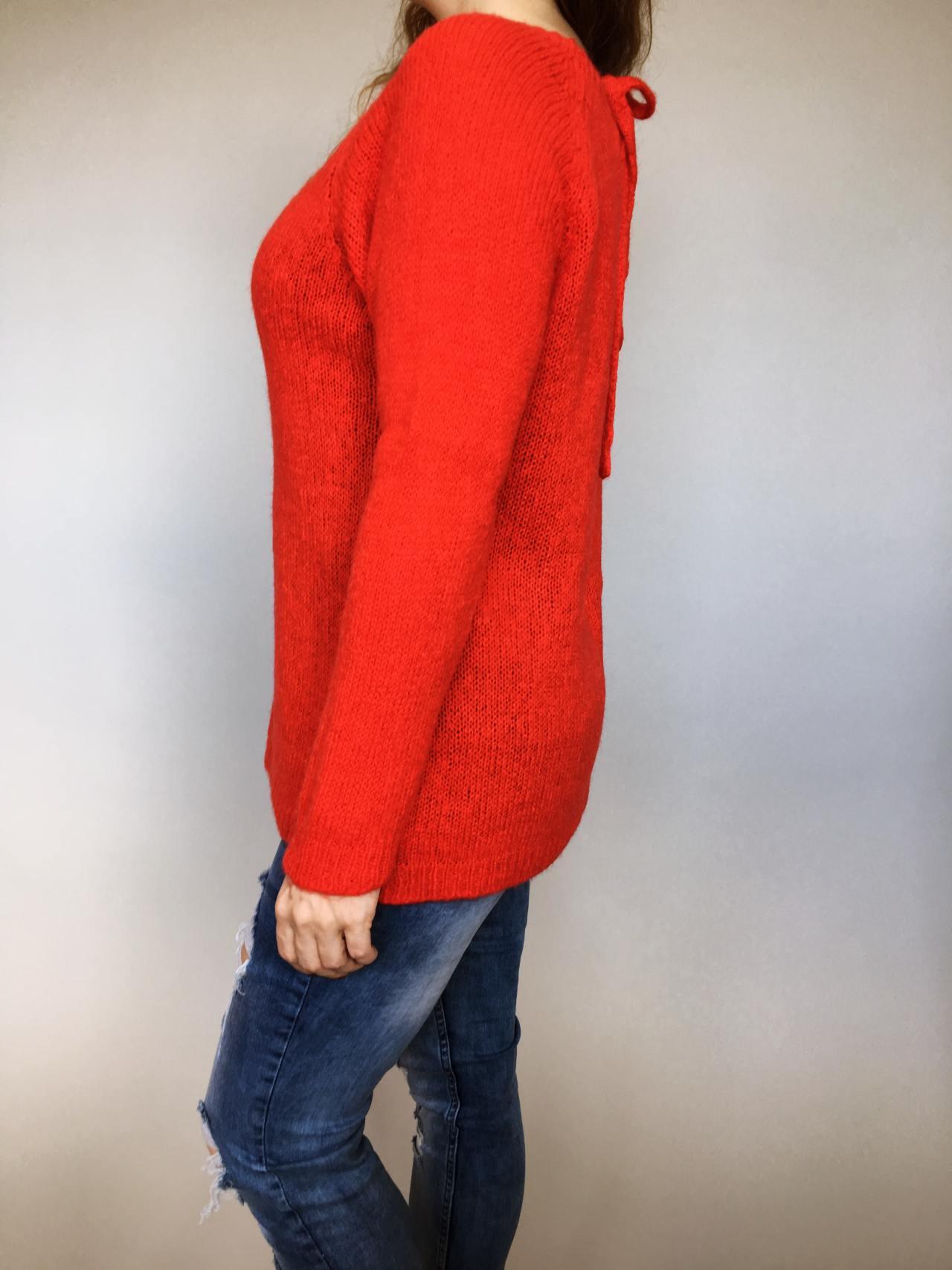 7bf7bb2e0b6 Svetr Molly červený – Simm-Fashion.cz
