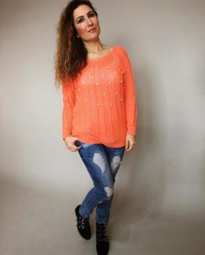 Halenka Pearls oranžová 01