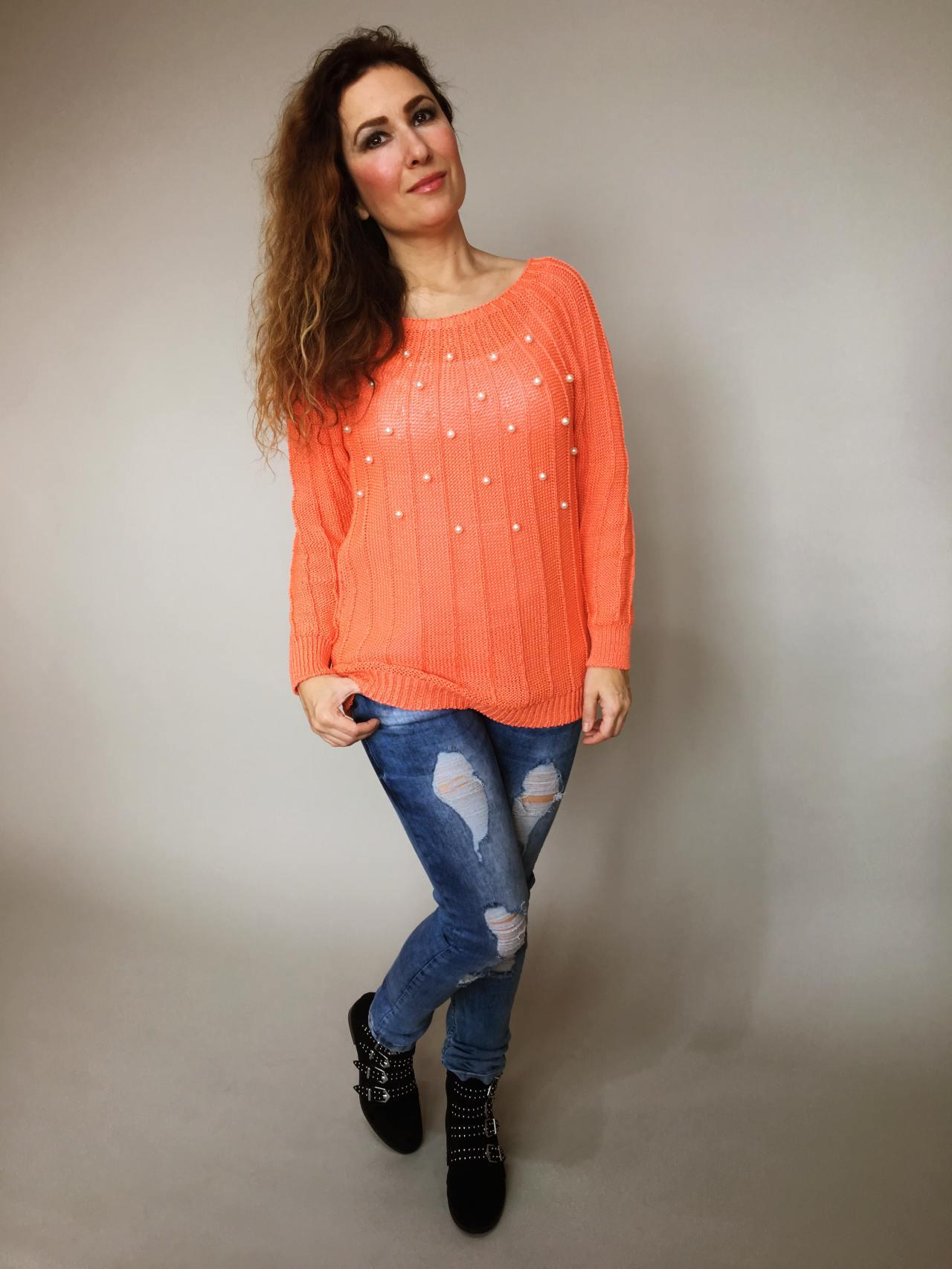 deeb9a887ea Halenka Pearls oranžová – Simm-Fashion.cz