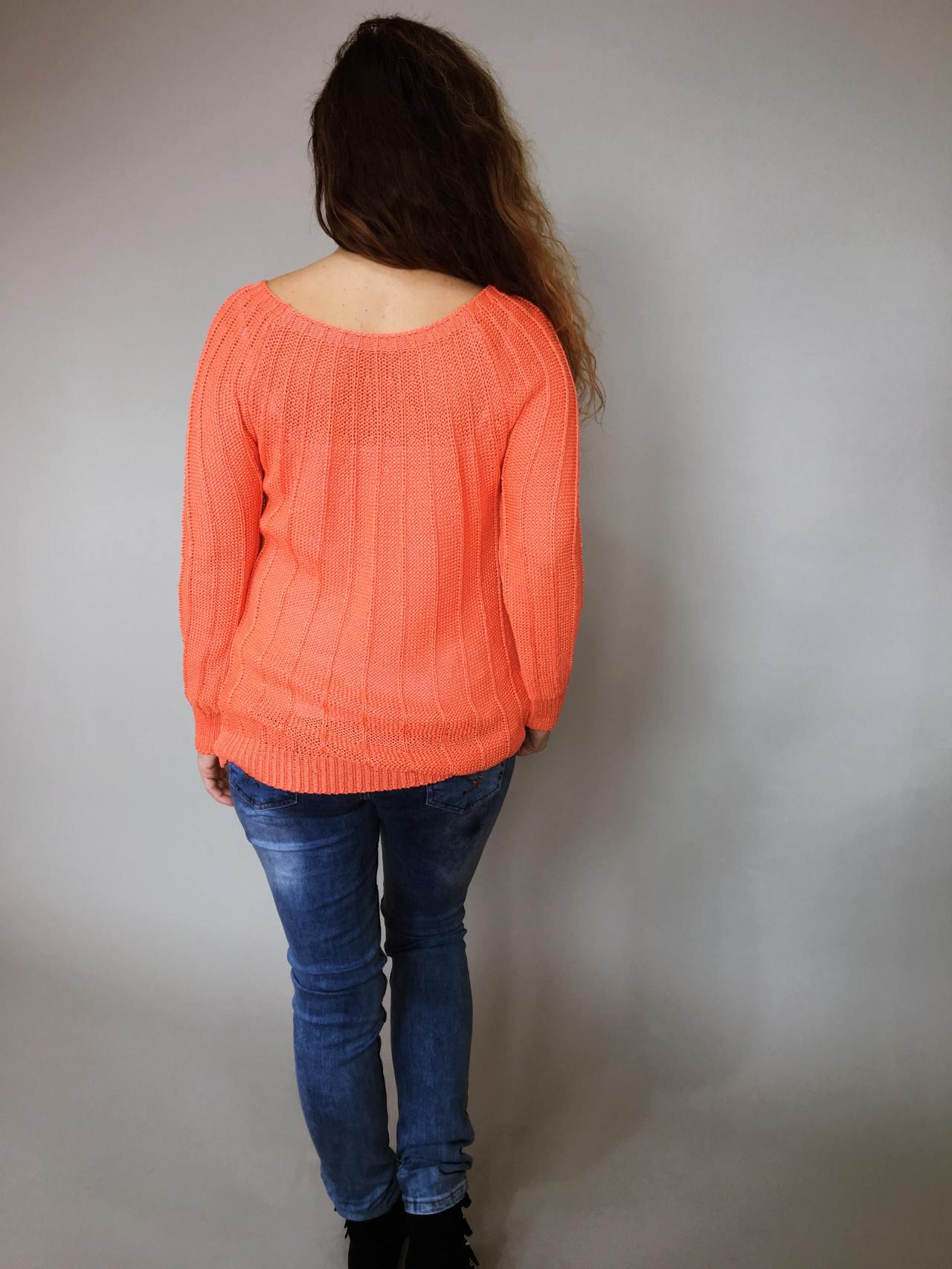 Halenka Pearls oranžová 02