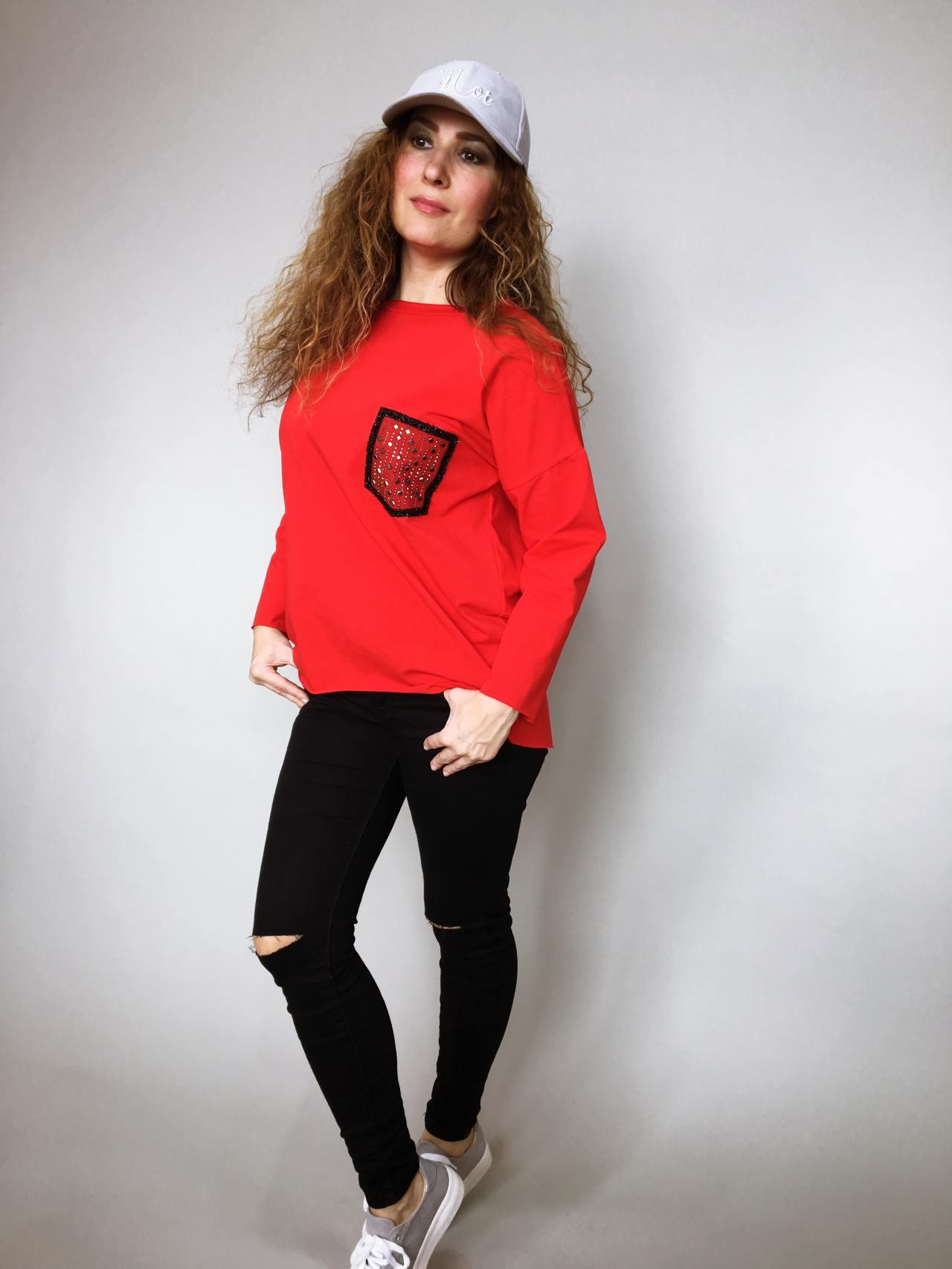 Halenka Pocket červená 03