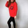 Halenka Pocket červená 04