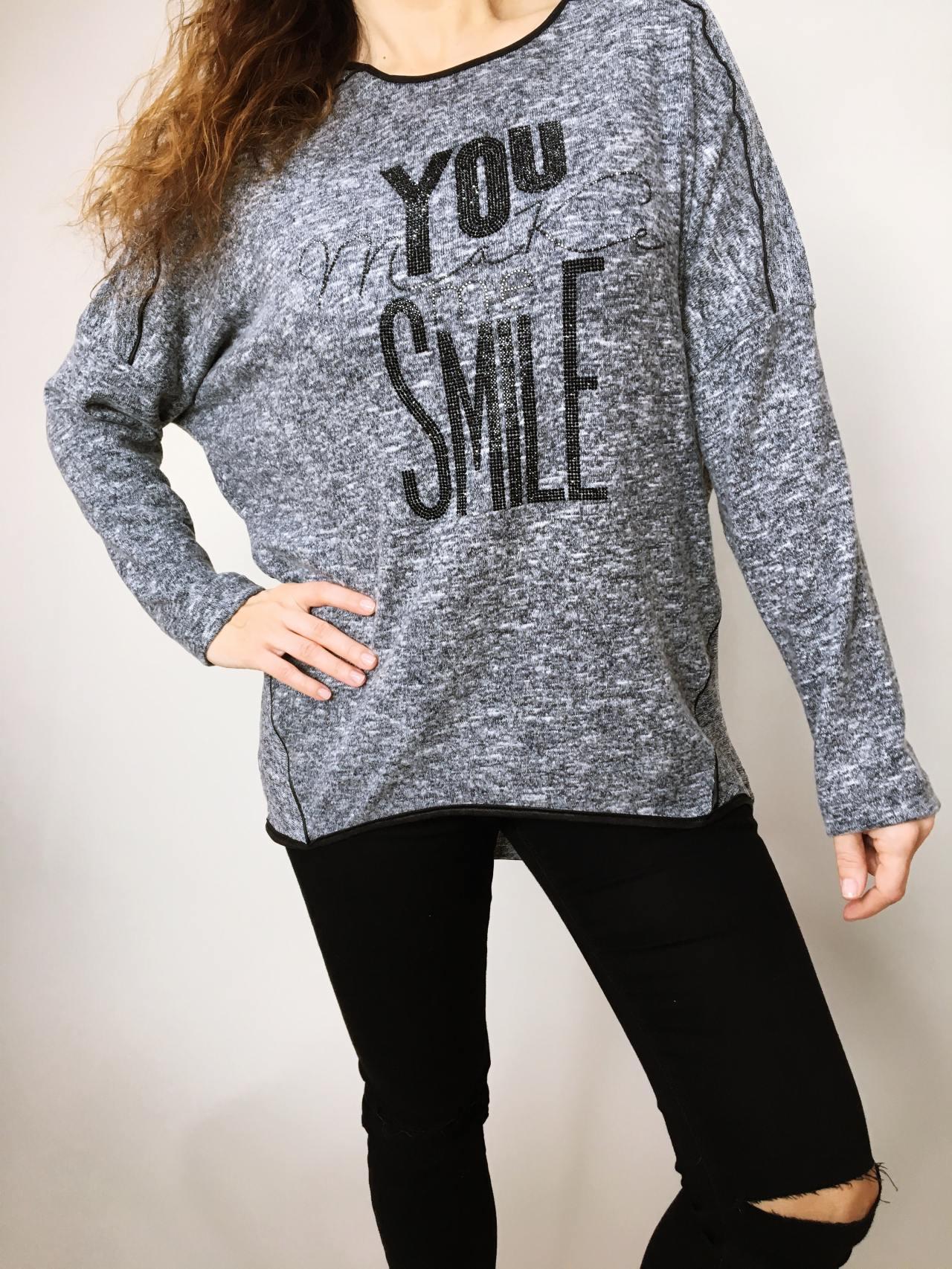 Halenka Smile grafitová 05