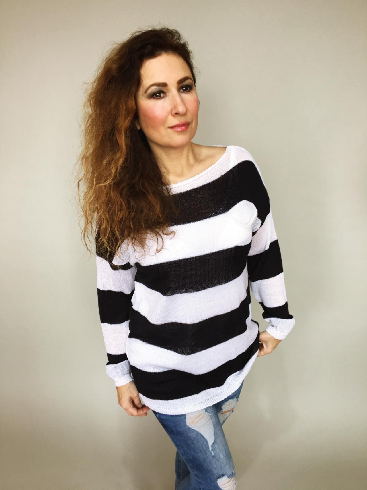 02652f595d1 Halenka s pruhy Alia – Simm-Fashion.cz