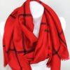 Károvaný šátek červený 02