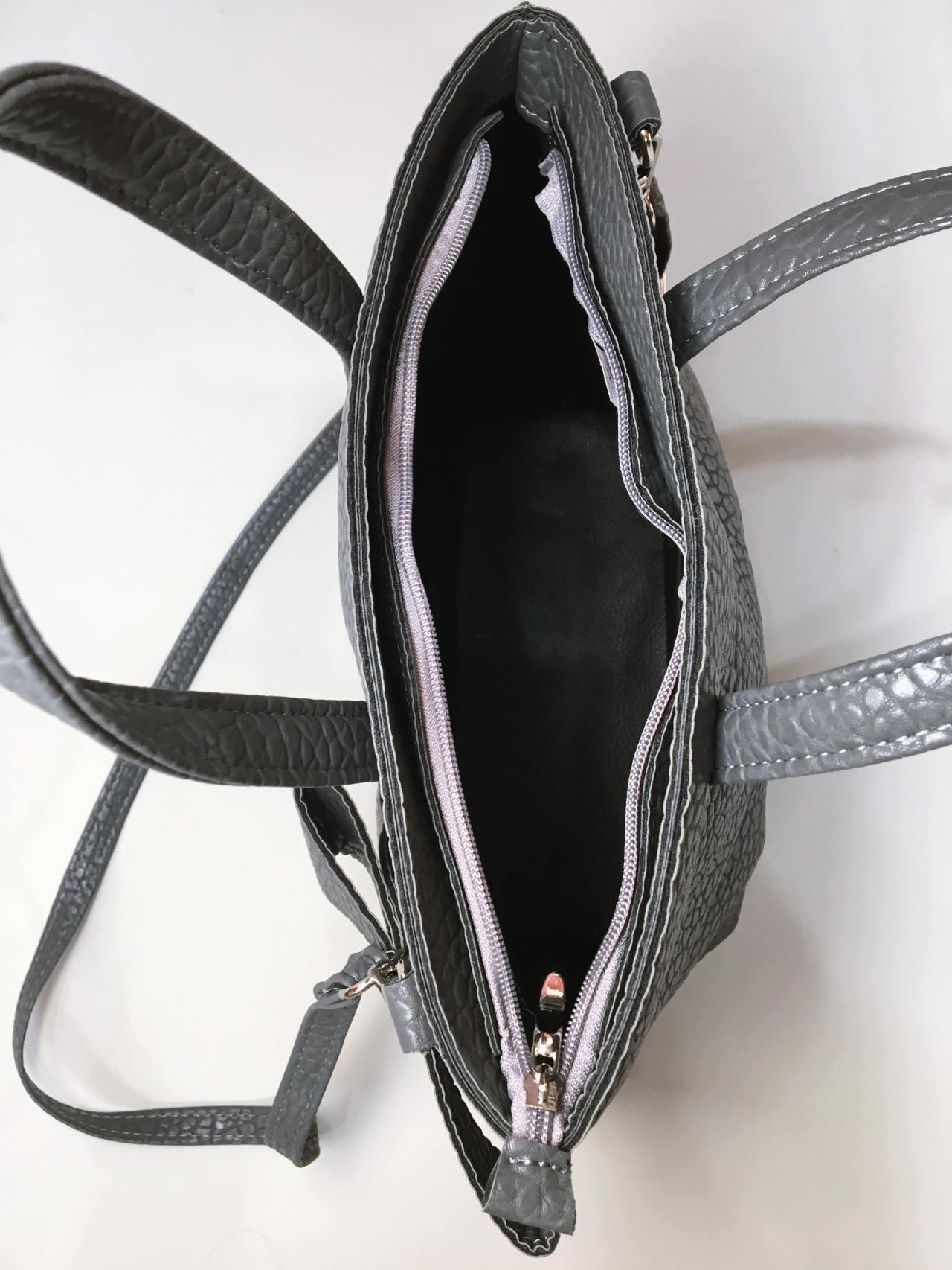 Kabelka s mašlí šedá 03