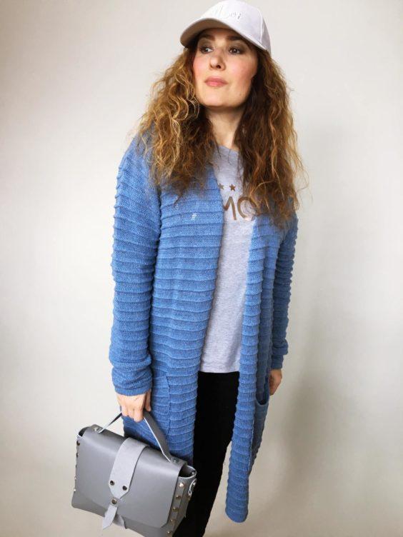 Kardigan Anne modrý 01