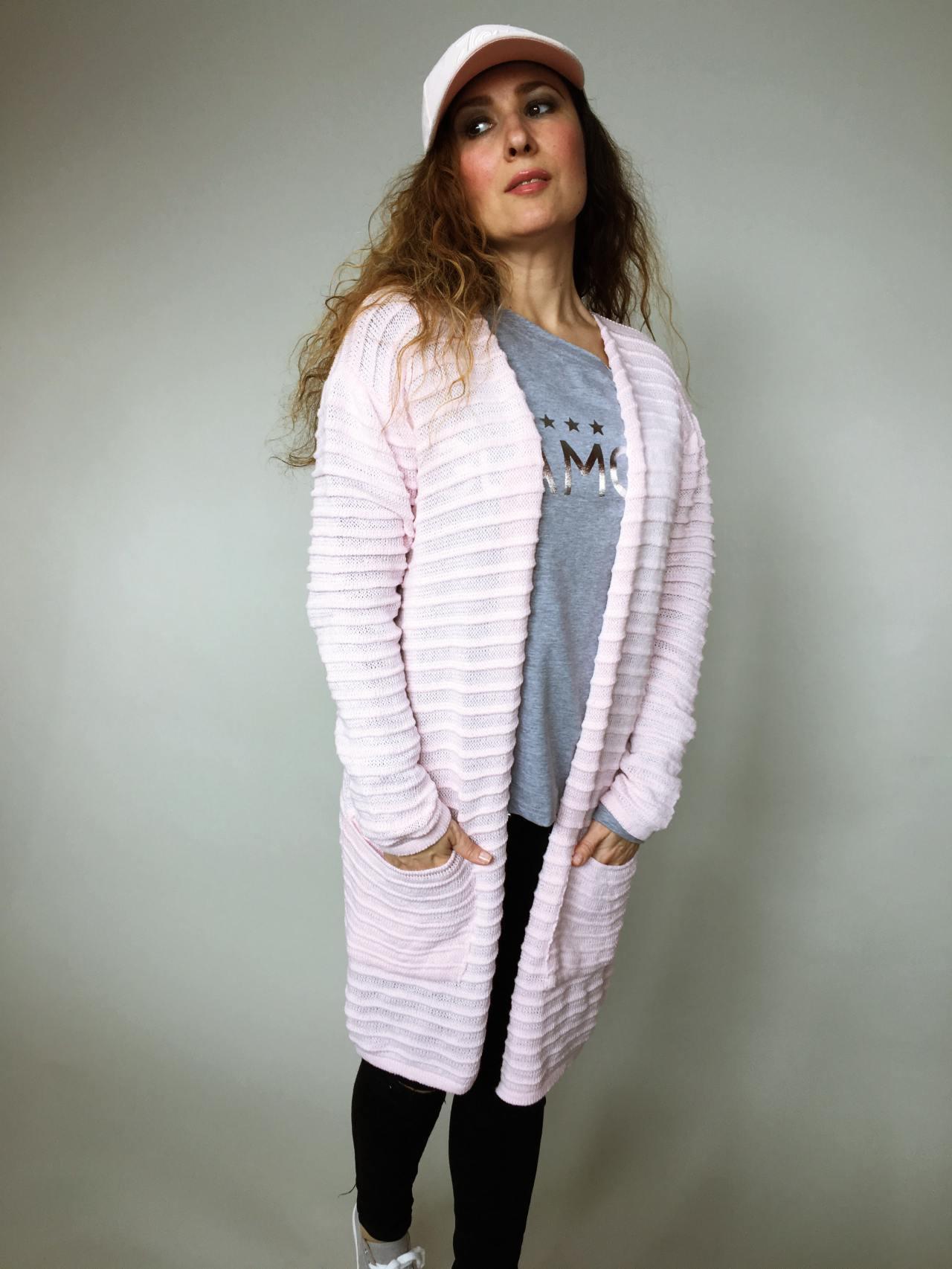 Kardigan Anne růžový 02