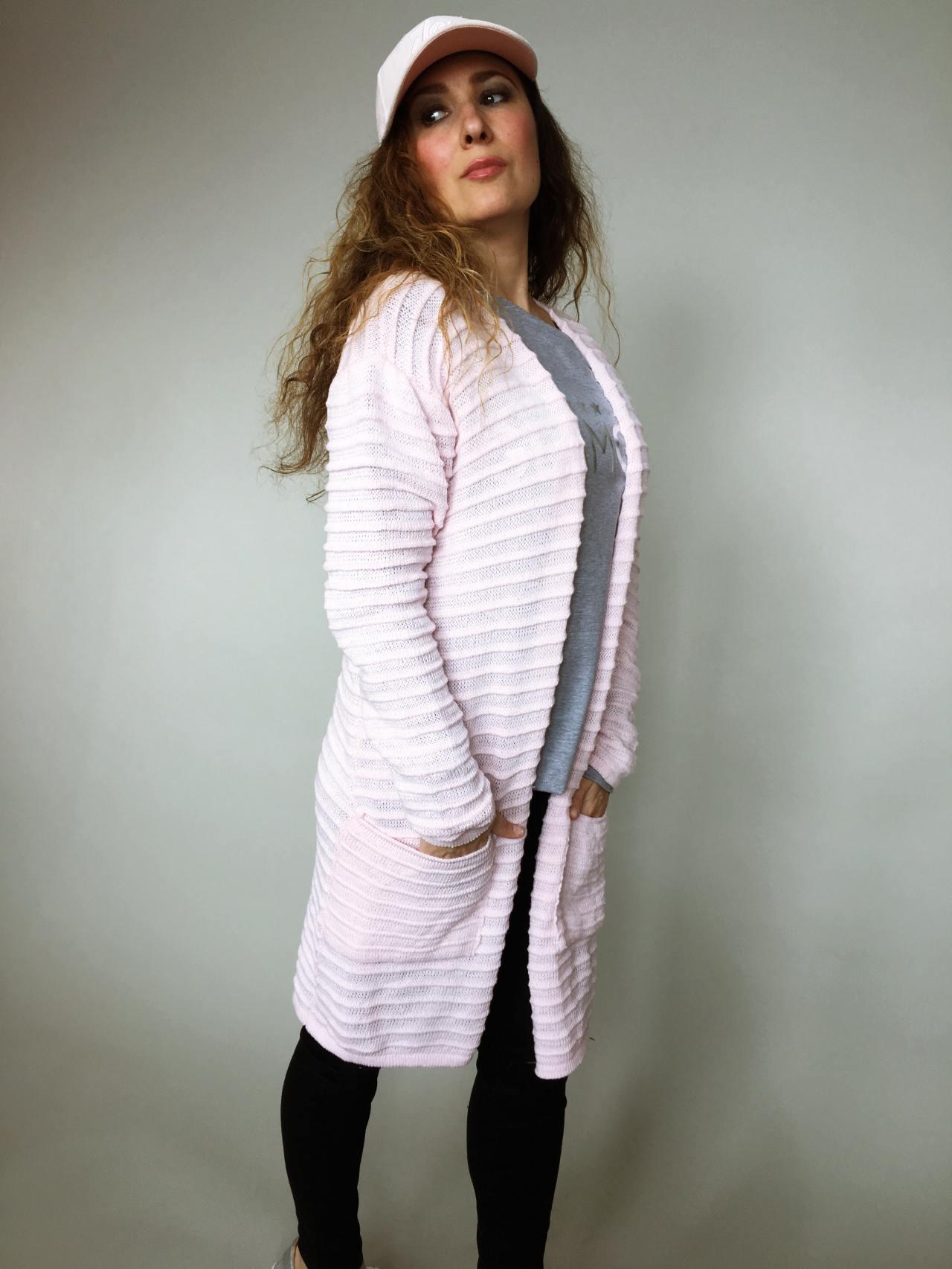 Kardigan Anne růžový 03