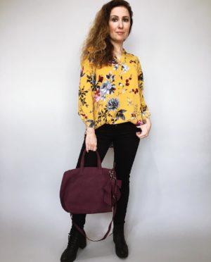 Košile s květy žlutá 01