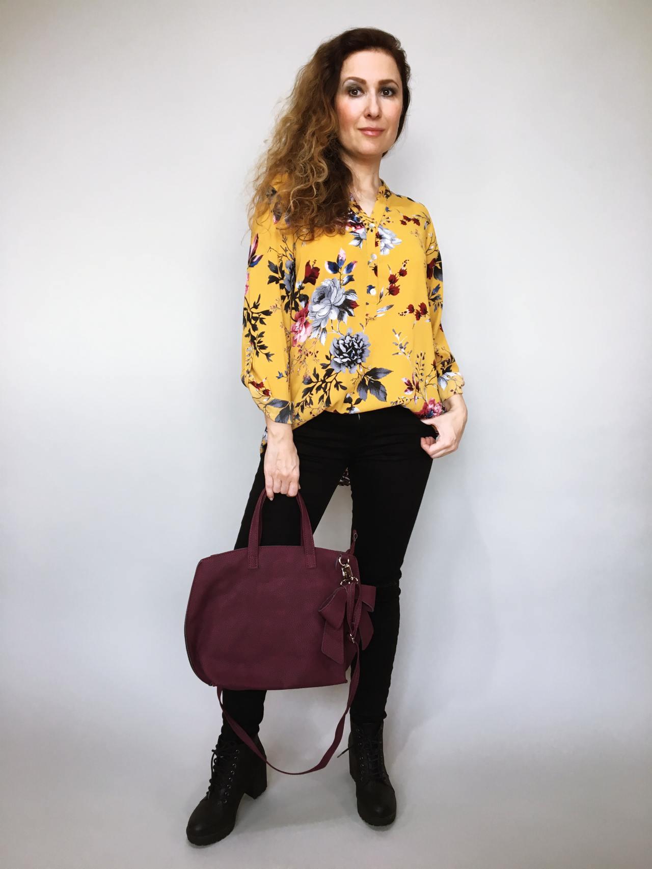 3dba07c63e1 Košile s květy žlutá – Simm-Fashion.cz