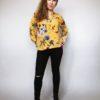 Košile s květy žlutá 05