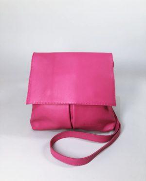 Kožená kabelka Pink 01