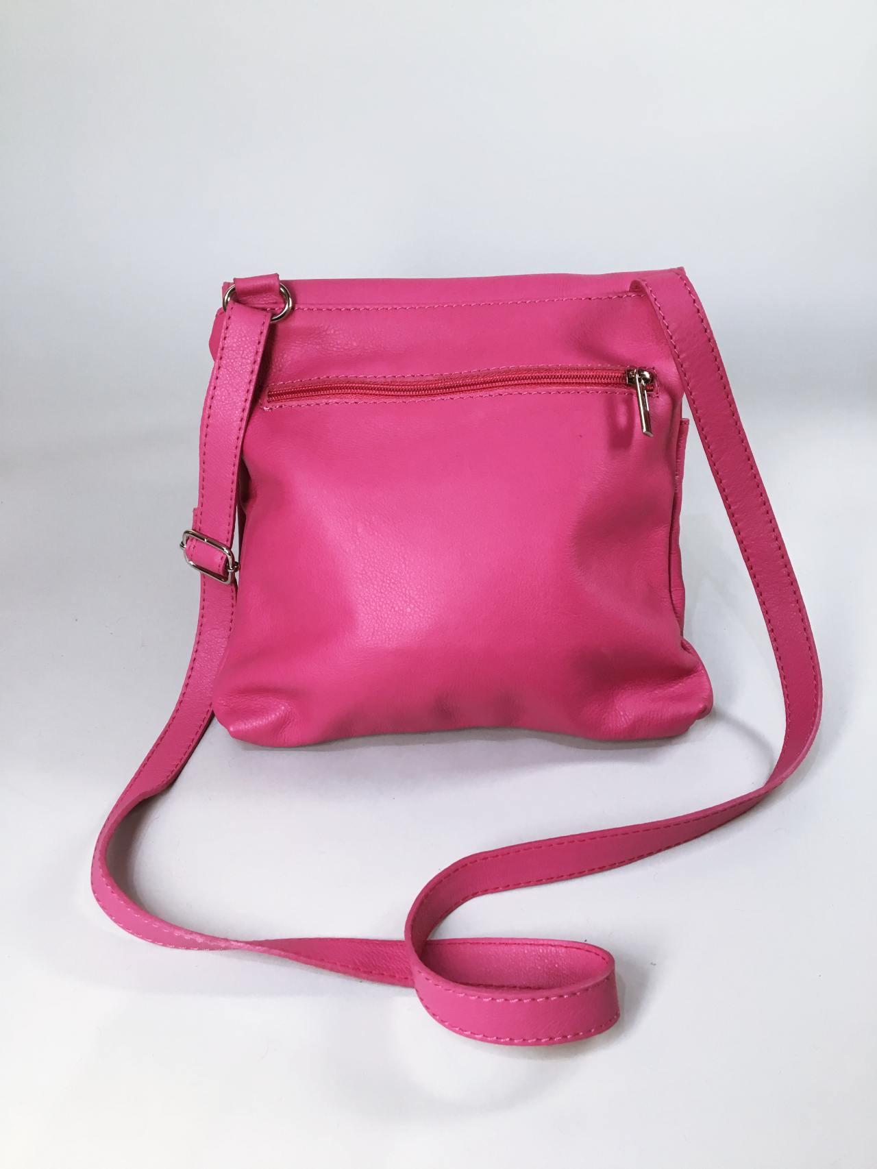 Kožená kabelka Pink 02
