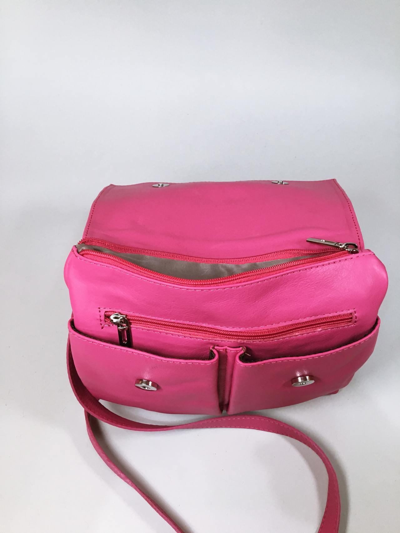 Kožená kabelka Pink 04