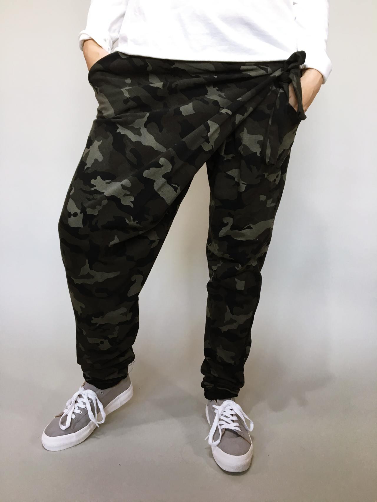 Módní kalhoty army 01