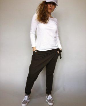 Módní kalhoty khaki 01