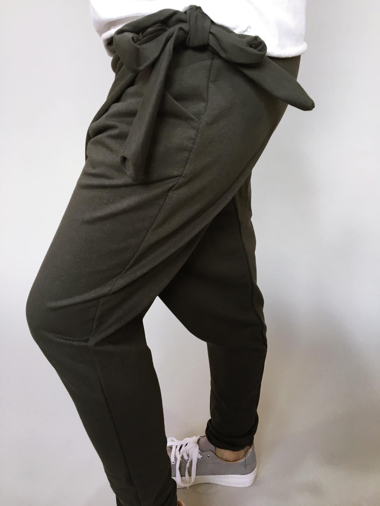 Módní kalhoty khaki 04