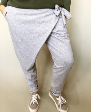 Módní kalhoty šedé 01