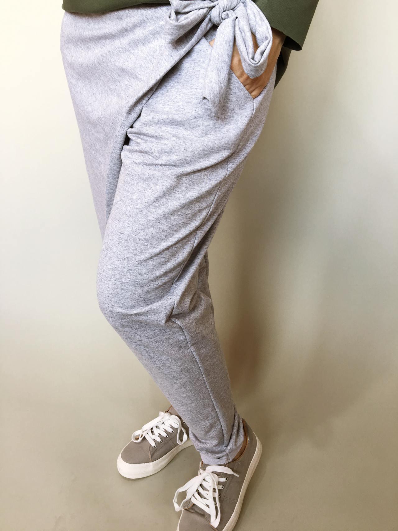 Módní kalhoty šedé 03