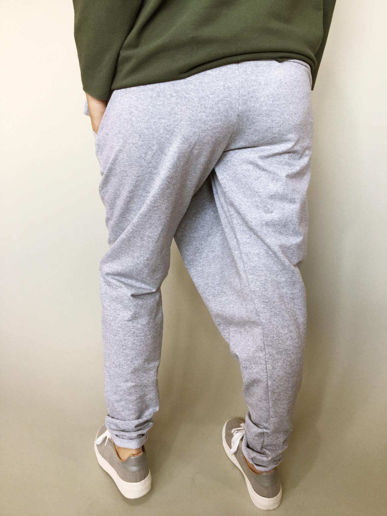 Módní kalhoty šedé 05