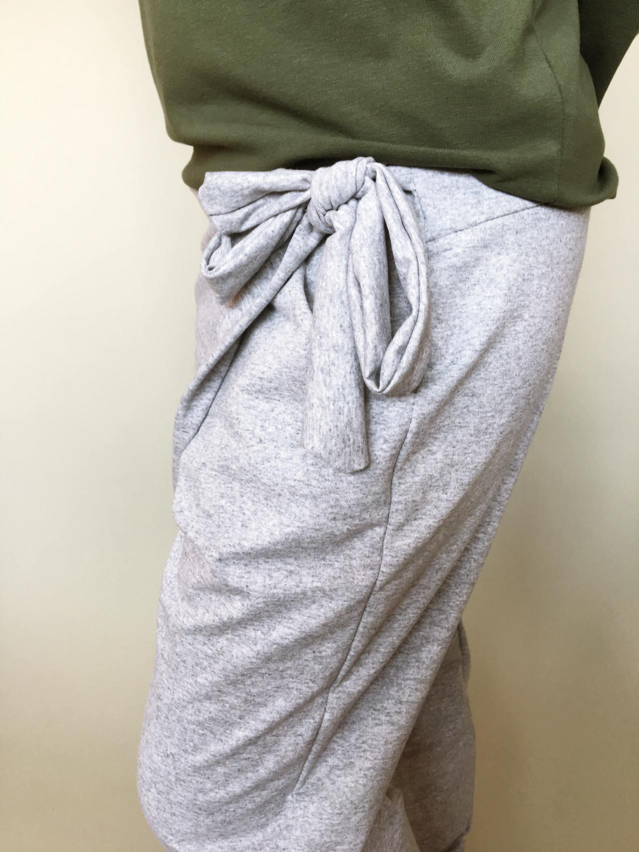 Módní kalhoty šedé 06