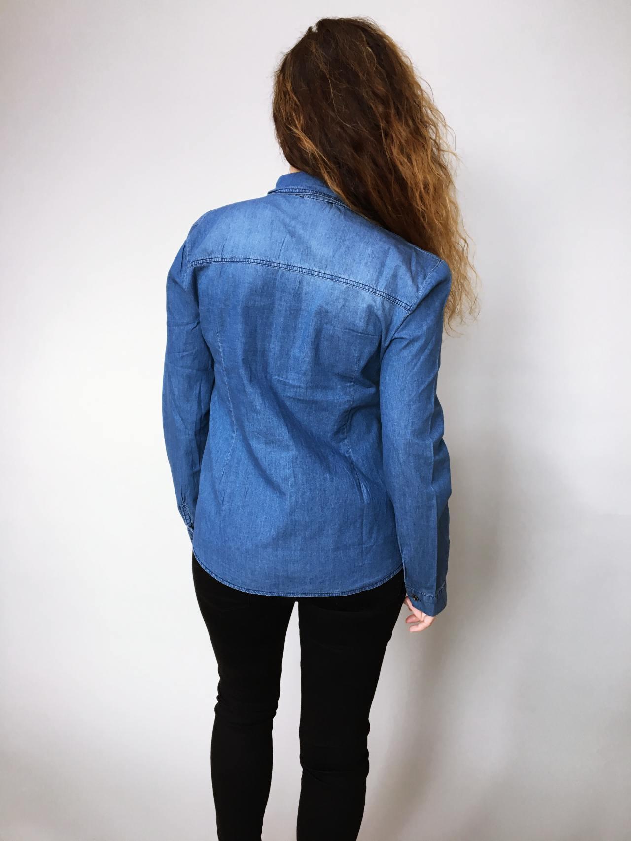 Riflová košile modrá 05