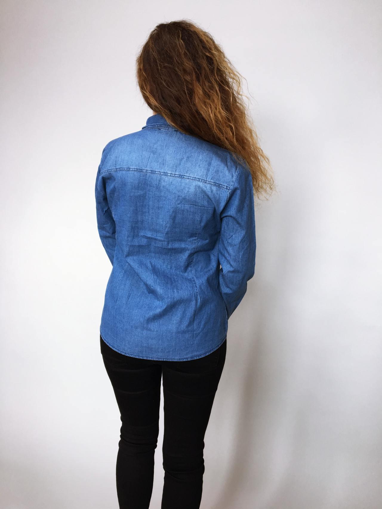 Riflová košile modrá 06