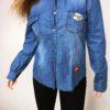 Riflová košile modrá 07