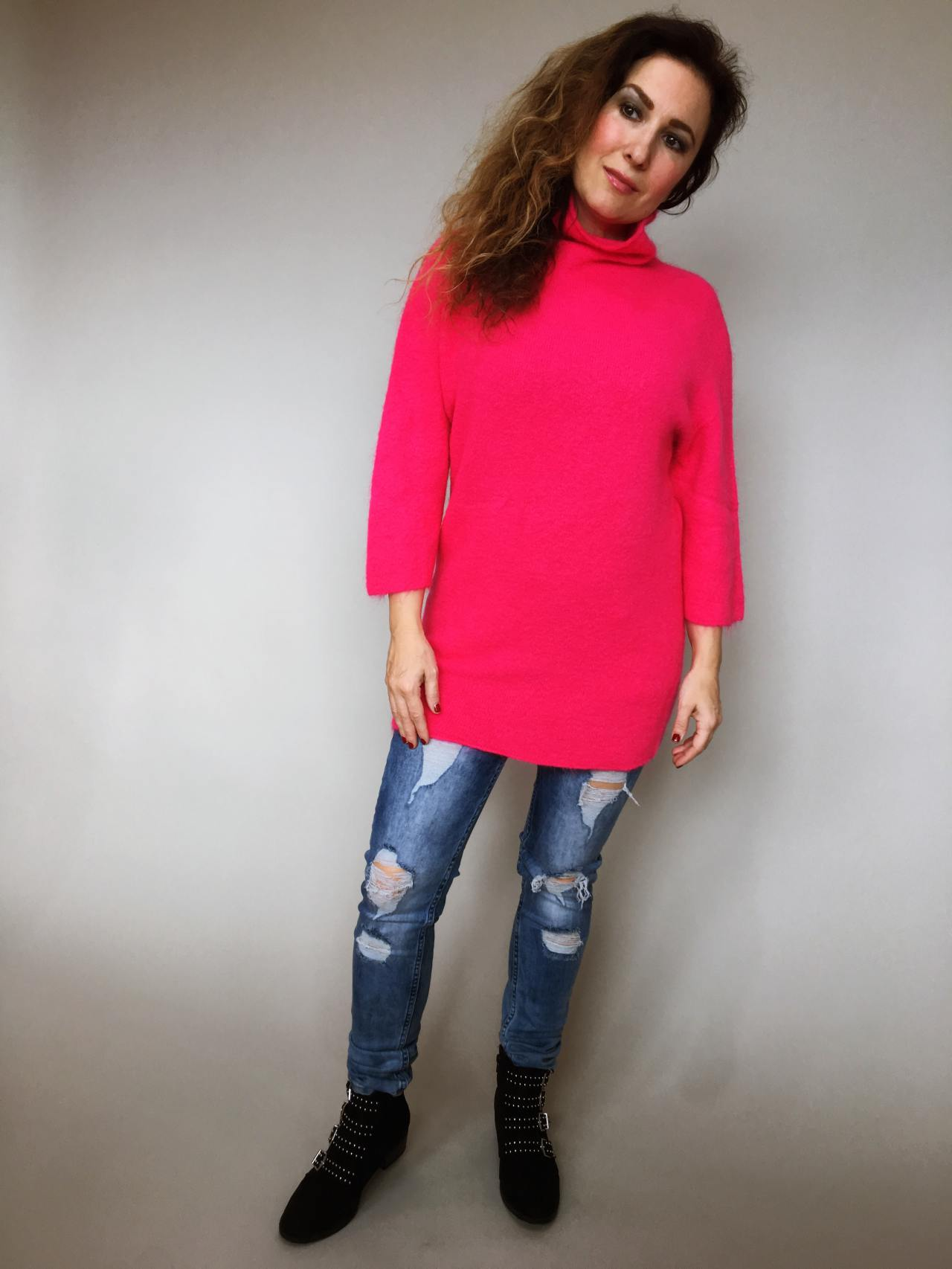 Růžový svetr Lili 01