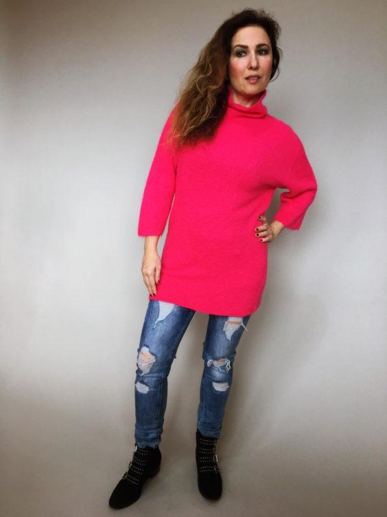 Růžový svetr Lili 02