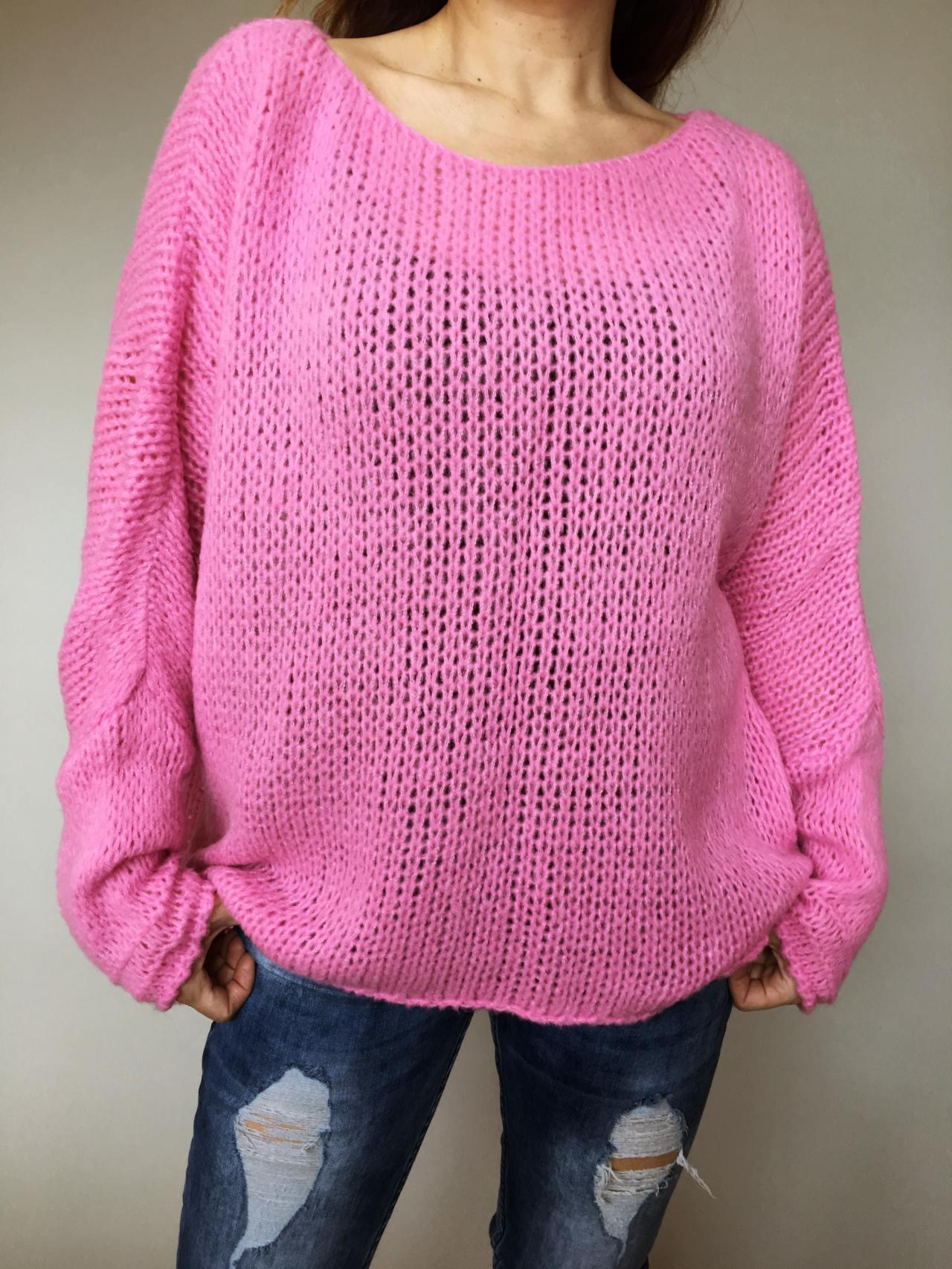 Růžový svetr Merlin 02