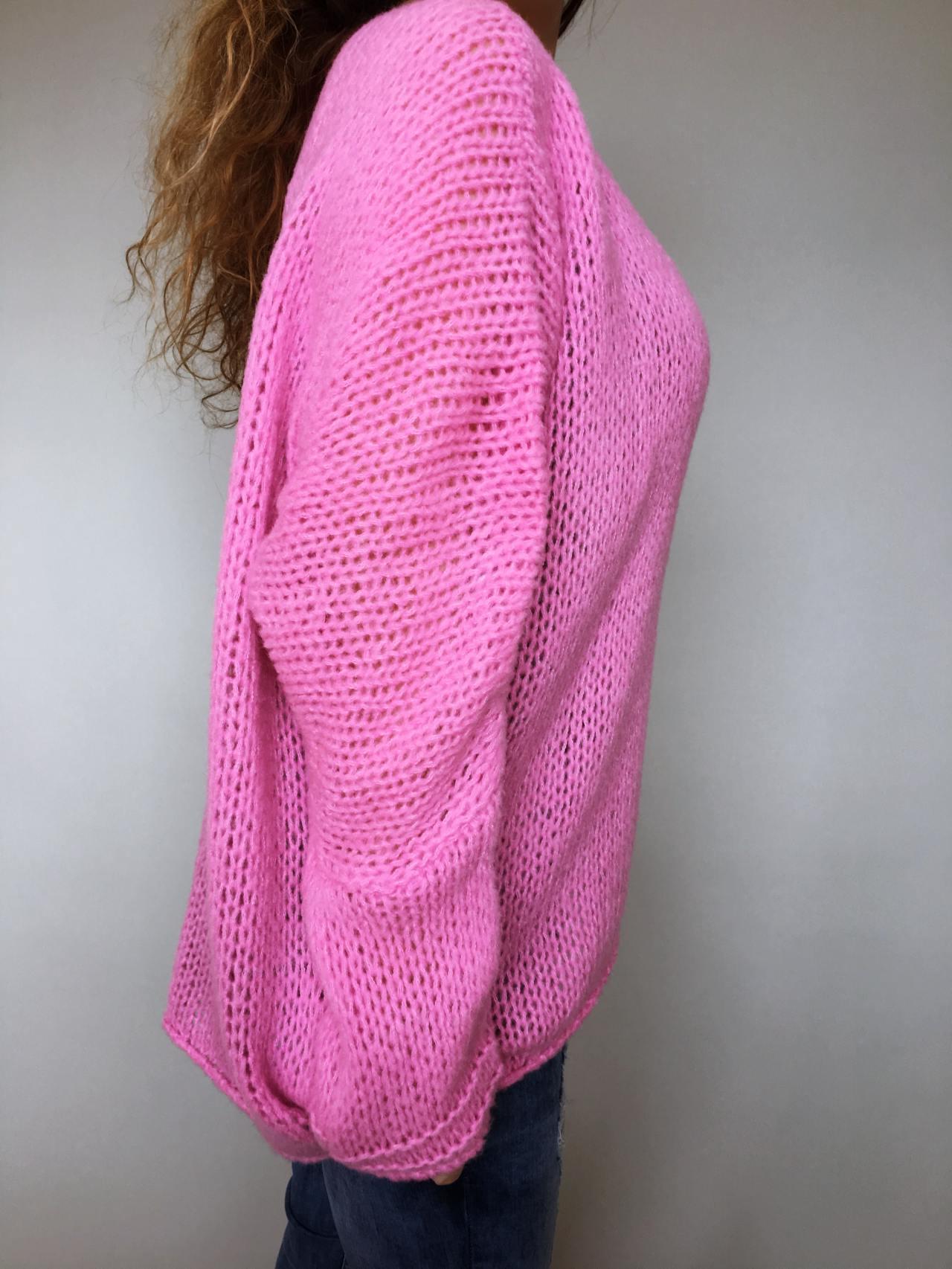 c26078d3622 Růžový svetr Merlin – Simm-Fashion.cz