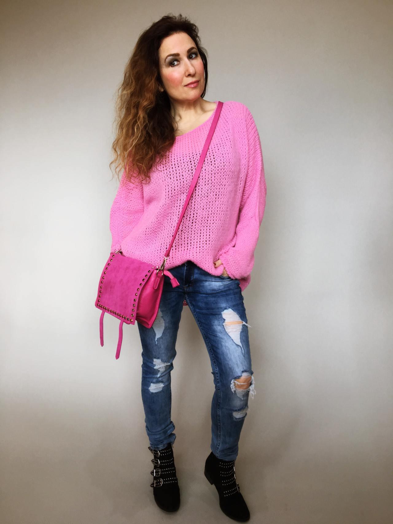Růžový svetr Merlin 06