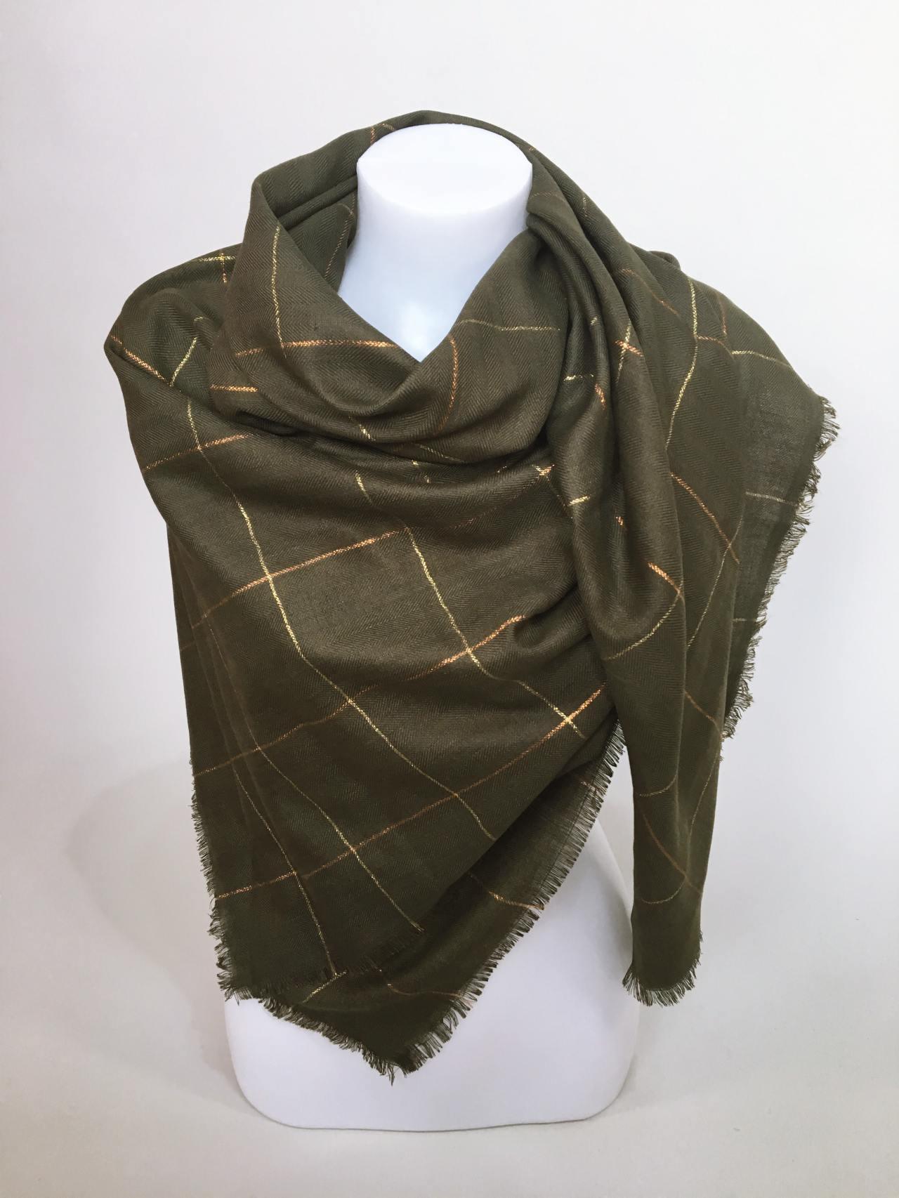Šátek khaki 03