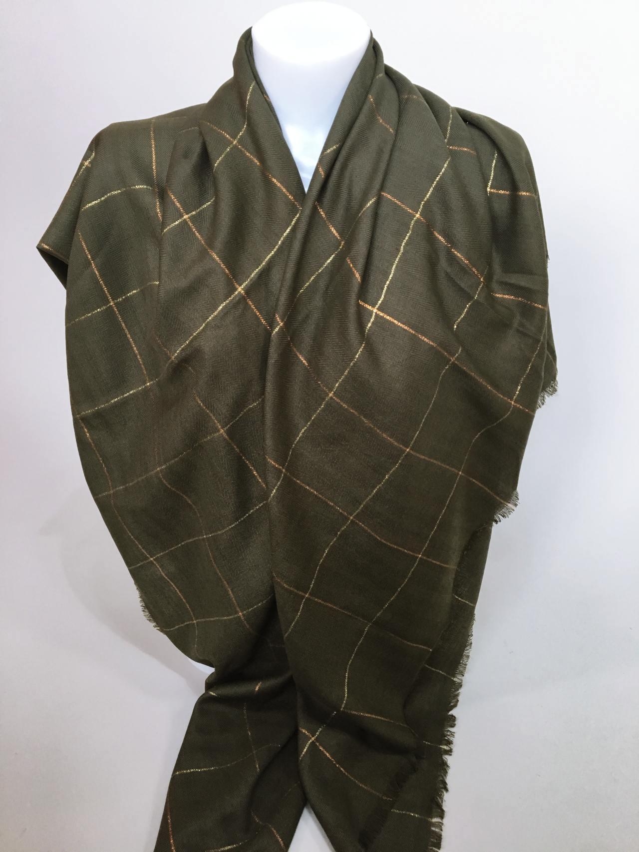 Šátek khaki 04