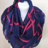 Šátek modro růžový 05