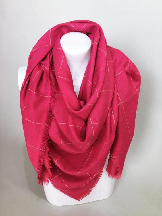 Šátek růžový 01