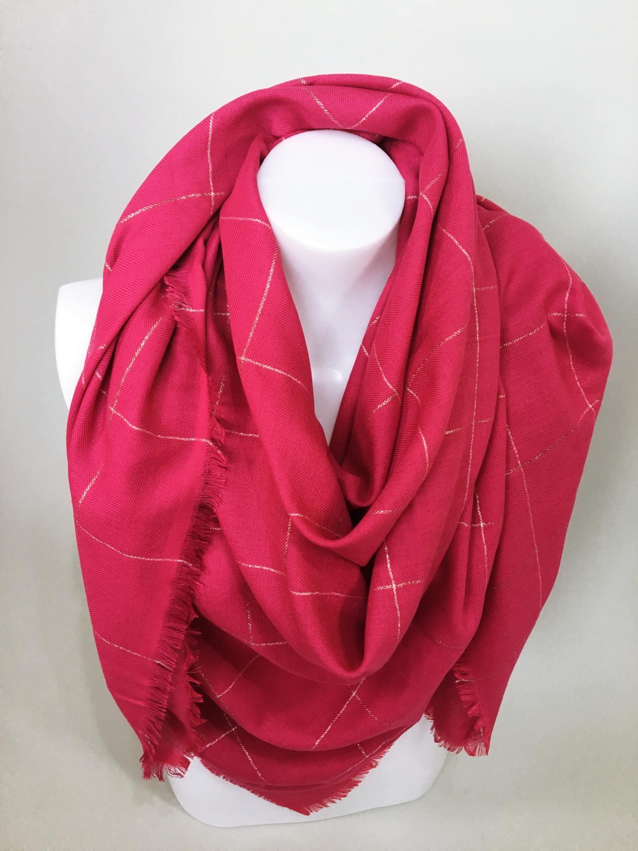 Šátek růžový 02