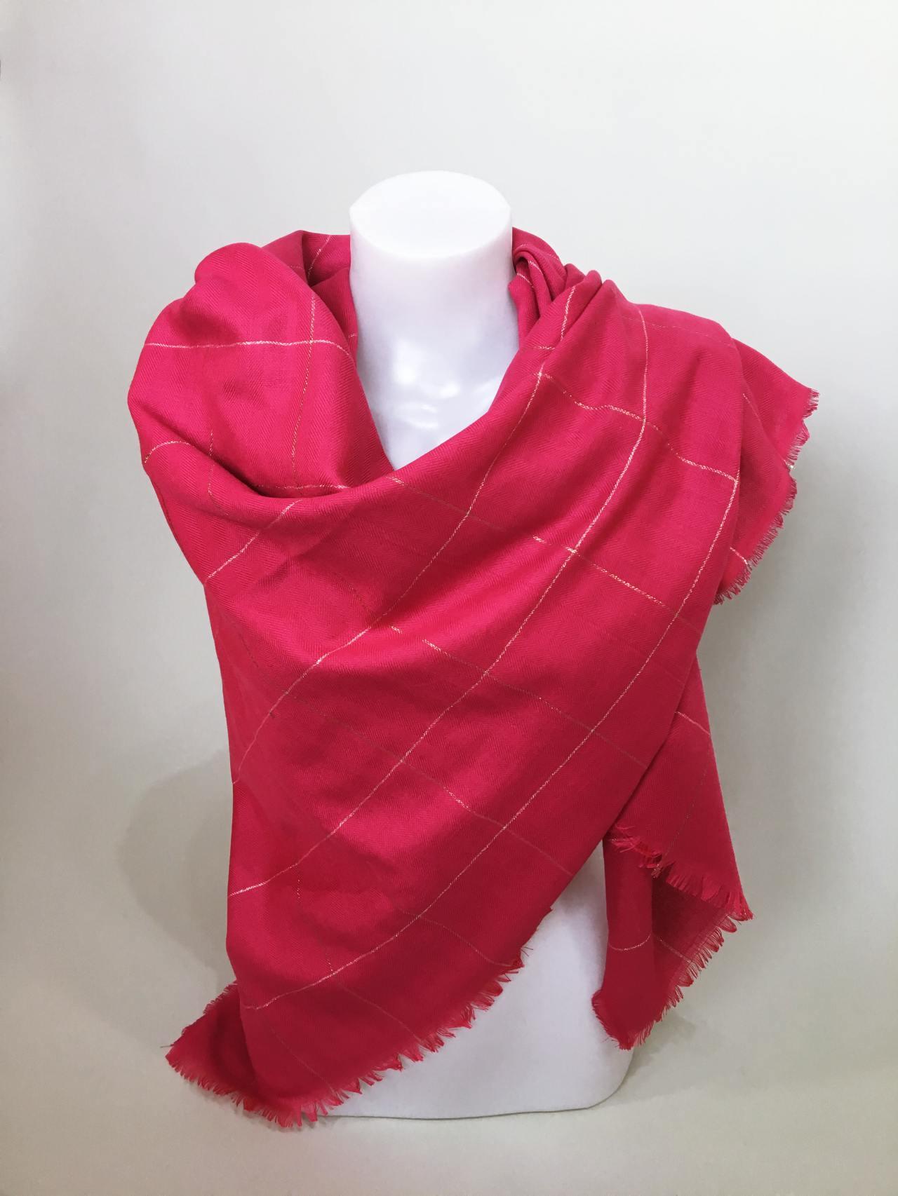 Šátek růžový 03