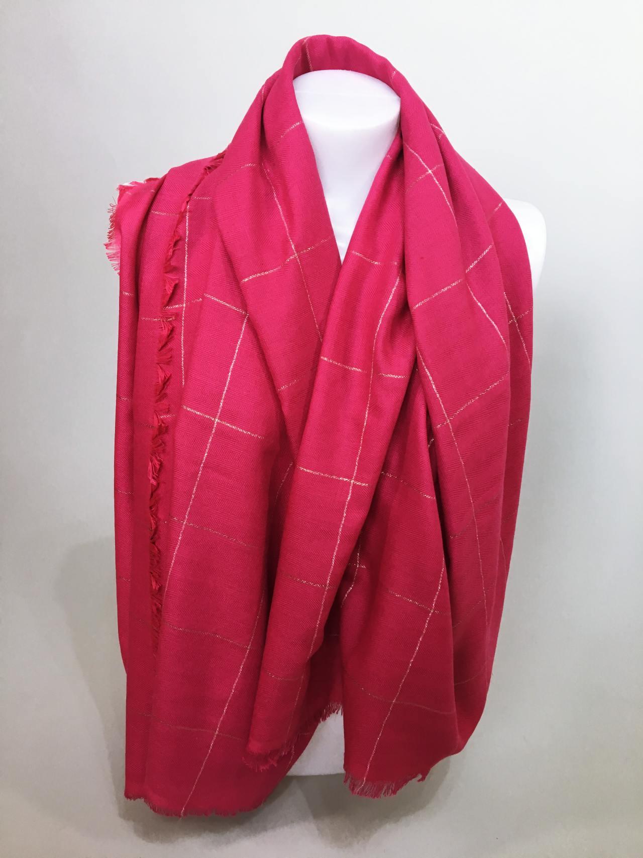 Šátek růžový 04