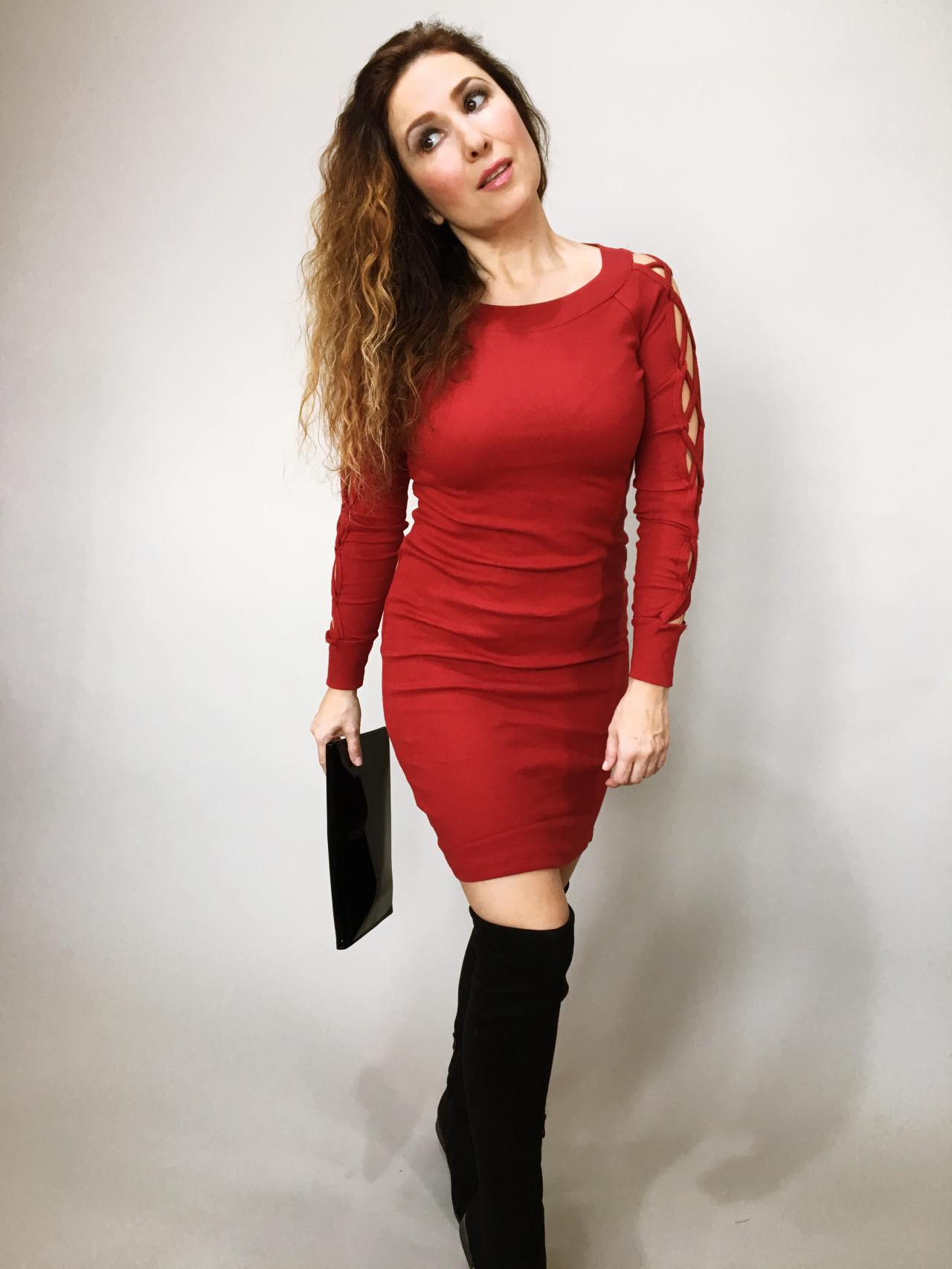 Šaty Anne bordó 02
