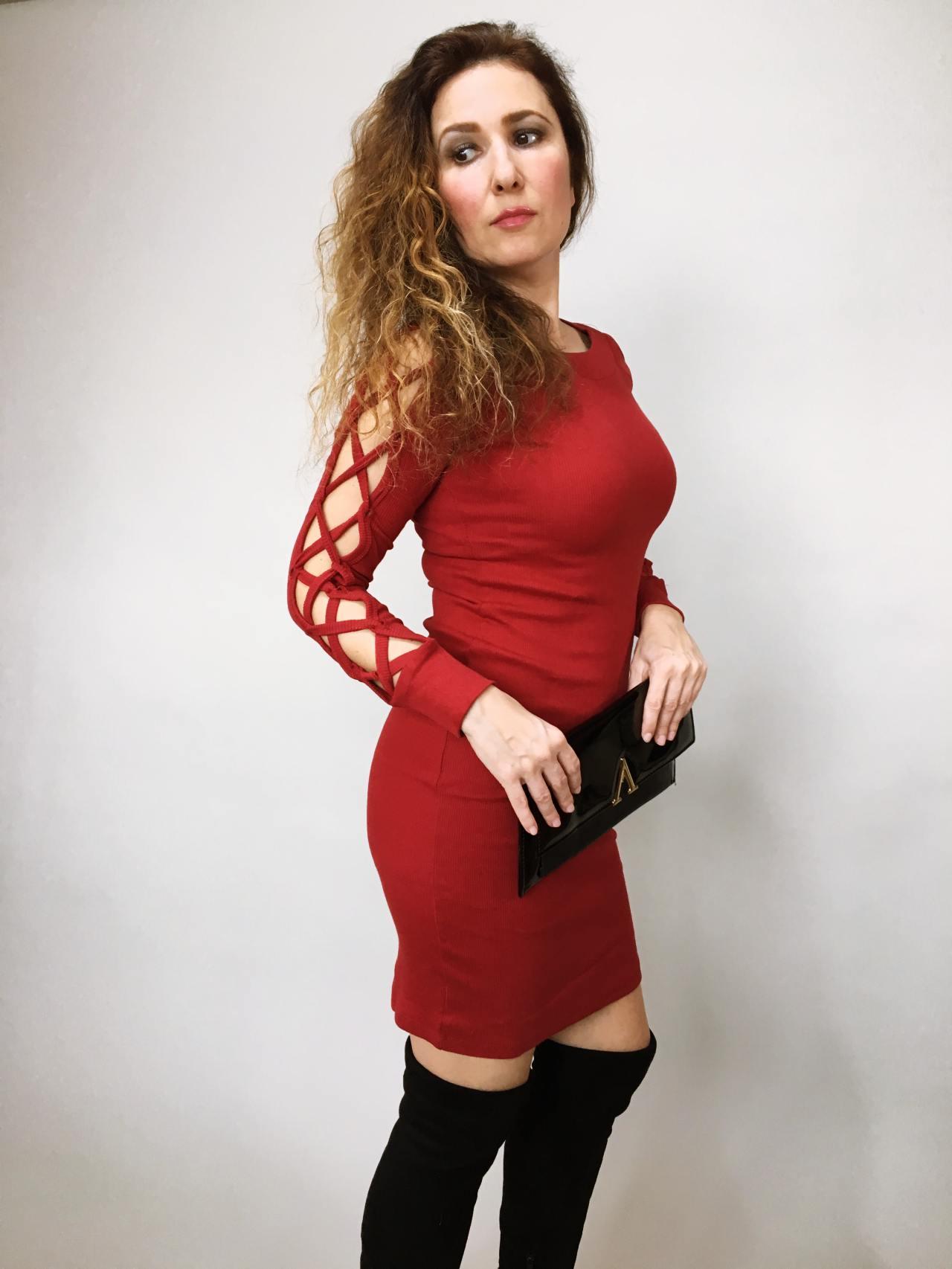 Šaty Anne bordó 03