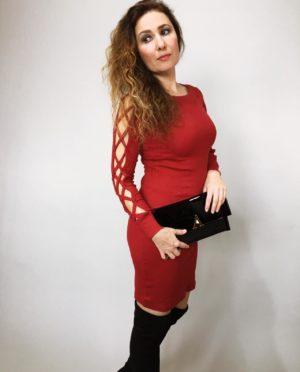Šaty Anne bordó 05