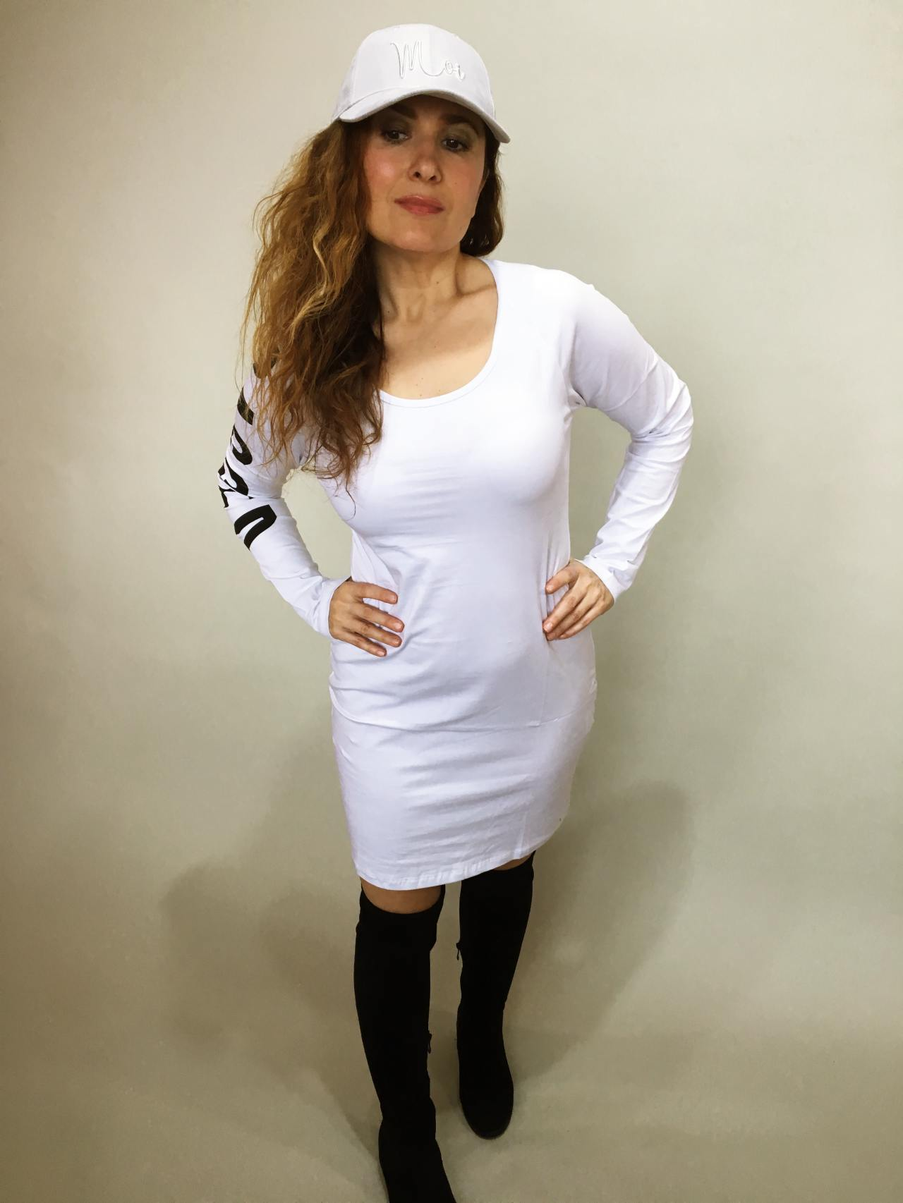 Šaty Bagged bílé 01