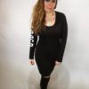 Šaty Bagged černé 01
