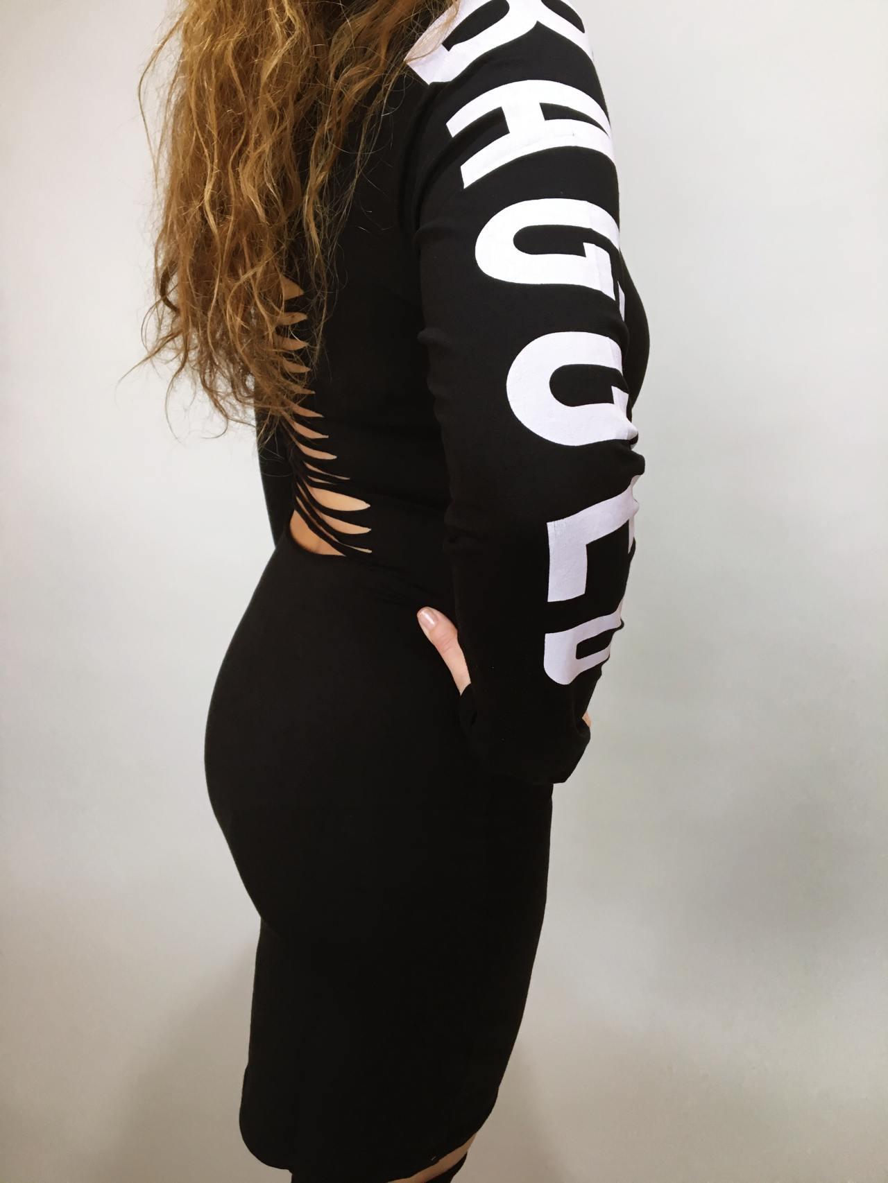 Šaty Bagged černé 02