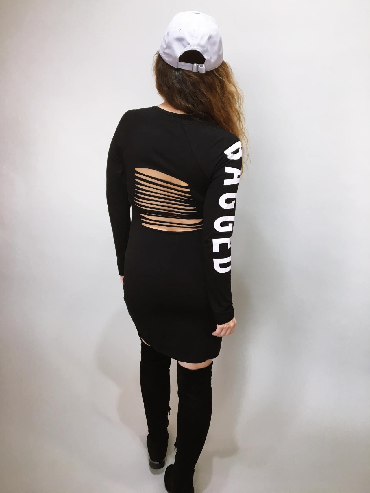 Šaty Bagged černé 04