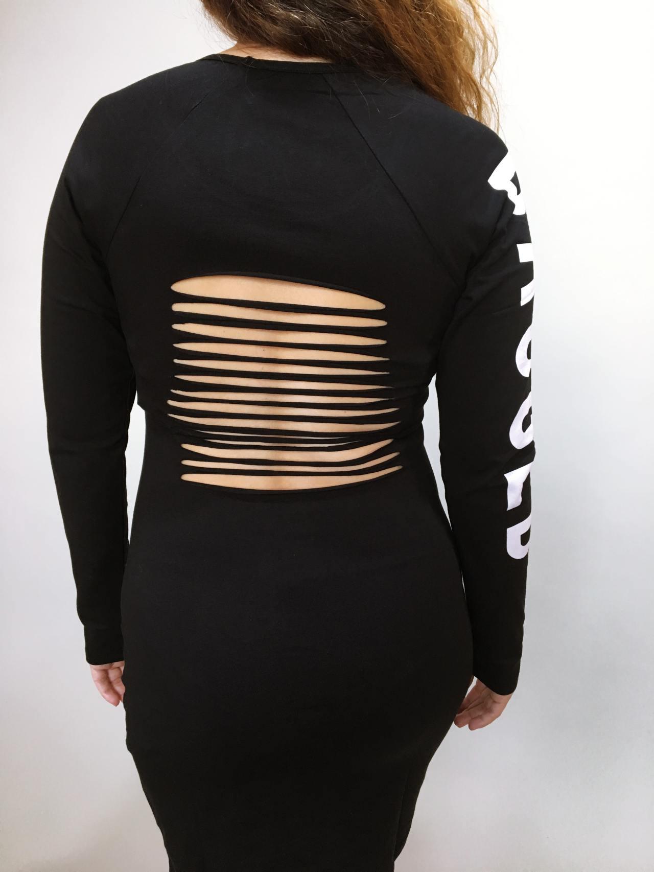 Šaty Bagged černé 05