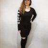 Šaty Bagged černé 07
